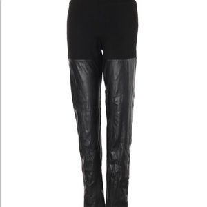H&M Faux leather panel leggings, sz S